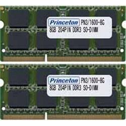 PRINCETON(プリンストン) PAN316008GX2 PC3-12800(DDR3-1600)対応ノートブック用メモリDDR3 SDRAM S.O.DIMM(8GB・2枚) PAN3/1600-8GX2 PAN316008GX2