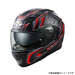 オージーケーカブト 585662 フルフェイスヘルメット KAMUI 3 CIRCLE XS フラットブラックレッド 585662