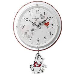 リズム時計 電波掛け時計 「くまのプーさん」 8MX407MC03 8MX407MC03