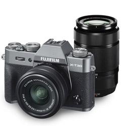 FUJIFILM(フジフイルム) X-T30WZLK-CS ミラーレス一眼カメラ ダブルズームレンズキット チャコールシルバー [ズームレンズ+ズームレンズ] FXT30WZLKCS