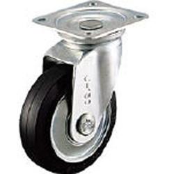 シシクアドクライス WJ-250 シシク スタンダードプレスキャスター ゴム車輪 自在 250径 WJ250