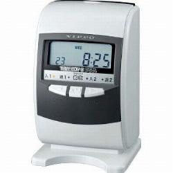 ニッポー 電子タイムレコーダー タイムボーイ8プラスH(スノーホワイト&グレー)