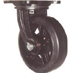 ヨドノ MHA-MG250X90 AL完売しました 全国一律送料無料 鋳物重量用キャスター MHAMG250X90