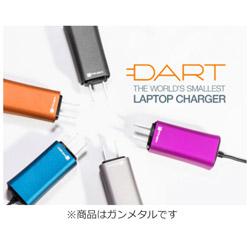 FINSIX Dart DA65US-GM1(ガンメタル) 超小型ノートパソコン用 65W ACアダプター DA65USGM1