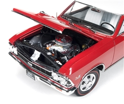 1966 model Chevrolet Chevelle SS 396 L78 red 1966 Chevrolet Chevelle SS 396  L78 Red Christmas Edition 1 / 18 Limited to 750pc by Autoworld