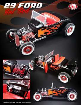 ACME 1/18 1929年モデル フォード Hot Rod1929 Ford Hot Rod 1/18 black by ACME NEW