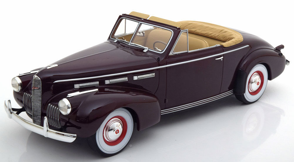 BOS Models 1/18 1940年モデル ラサール シリーズ50 コンバーティブル ダークレッド1940 LaSalle Series 50 Converible Coupe Dark Red by BoS Models LE of 504 1/18