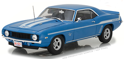 Highway 61 1:18 映画「ワイルドスピード X2」1969年モデル シボレー カマロ Yenko 427 ブルー1969 Chevrolet Yenko 427 Camaro 2Fast 2Furious blue with white stripes 1/18 by Highway 61 USA