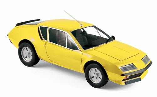 Norev ノレヴ 1:18 1981年モデル ルノー アルパイン A310 イエロー1981 Renault Alpine A310 yellow 1/18 Diecast Model Car by Norev NEW