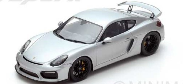 Spark スパーク 1:18 2016年モデル ポルシェ ケイマン GT4 シルバー PORSCHE - CAYMAN GT4 2016 1/18 by Spark