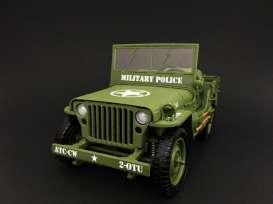 Tripple9 1:18 1944年モデル ウィリス 1/4トン アメリカ  ミリタリーポリス ジープ