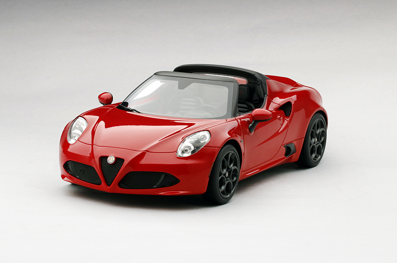 Top Speed 1:18 2015年モデル アルファロメオ 4C スパイダー 2015 ALFA ROMEO 4C Spider 1/18 Scale by Top Speed