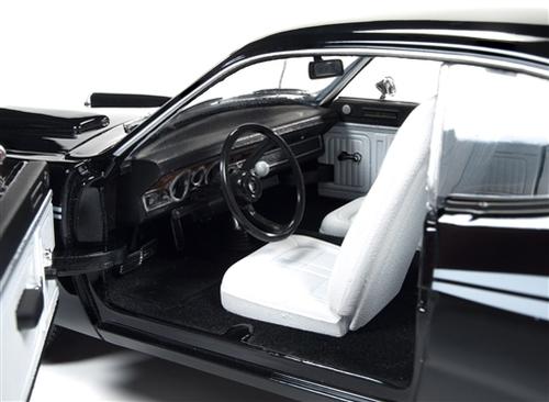 AutoWorld 1:18 1971年模型道奇守護進程 340 黑 1971年道奇惡魔 340 黑海明肌肉機器限量版到 1002pc 1 / 18 Autoworld 壓鑄模型車