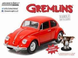 Greenlight 1:18 映画「グレムリン」 1967年モデル フォルクスワーゲン ビートル 1インチのギズモフィギャー付き