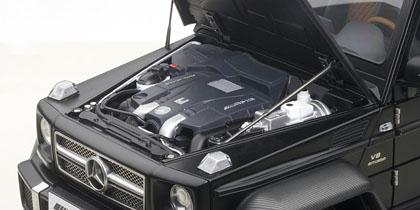 AUTOart 1 / 18 by 2015, model Mercedes-Benz G63 AMG 6 x 6 2015  MERCEDES-BENZ G 63 AMG 6 x 6 1 / 18 by AUTOart