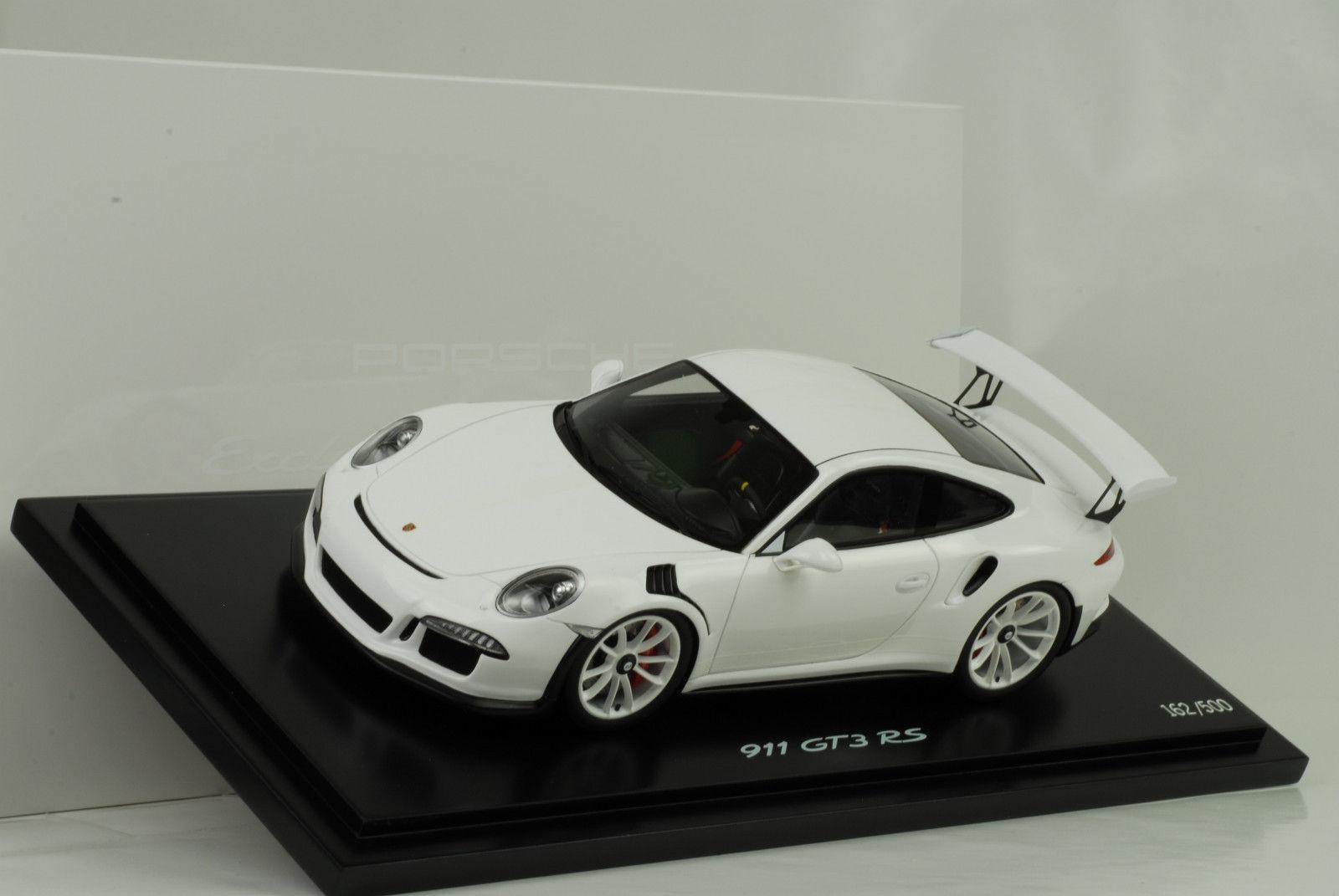 ディーラーモデル 1:18 2015年モデル ポルシェ 991 911 GT3 RS ホワイト アクリルケース付きPorsche 911 (991) GT3 RS Year 2015 white with showcase 1:18 Porsche AG