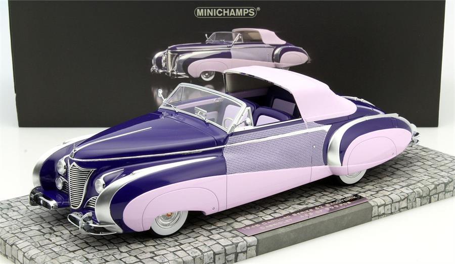ミニチャンプス 1:18 1948年モデル キャデラック シリーズ62 1948 Cadillac Serie 62 Cabriolet Coachbuilder Jacques Saoutchik black/purple