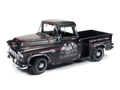 Autoworld 1:18 1955年モデル シボレー ピックアップトラック TV ドラマ「三ばか大将」1955 Chevrolet Stepside Pickup Truck The Three Stooges Tribute Limited Edition to 1002pcs 1/18 Diecast Model Car by Autoworld