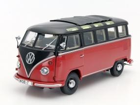Schuco 1:18 1959年モデル フォルクスワーゲン T1 VW T1b Samba in Dark Brown Red Diecast Model in 1:18 Scale by Schuco