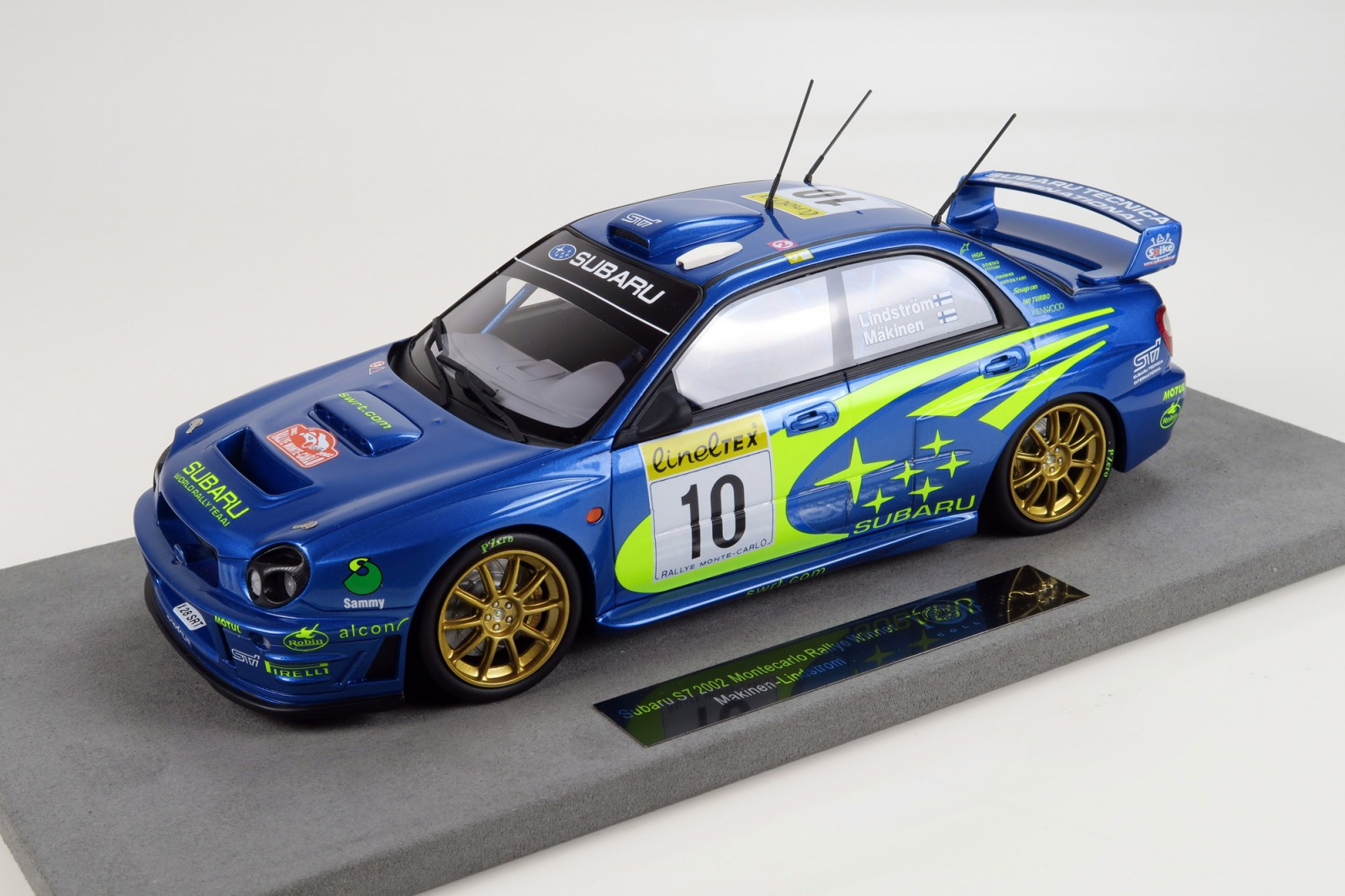 Topmarques 1:18 2002年ラリーモンテカルロ優勝モデル スバル インプレッサ S7 NO.10SUBARU - IMPREZA S7 N 10 WINNER RALLY MONTECARLO 2002 T.MAKINEN - K.LINDSTROM 1/18 by Topmarques