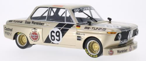 BoS Models 1:18 1975年DRM BMW 2002 Group 2 No.69BoS 1975 BMW 2002 Gr.2 #69 GS Tuning Warsteiner 1:18 BoS-Models