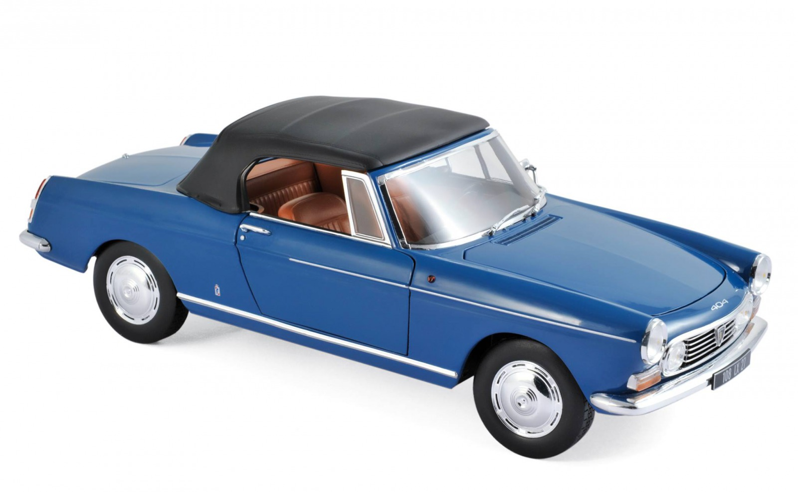 Norev 1:18 1967年モデル プジョー 404 カブリオ ブルーPEUGEOT - 404 CABRIOLET 1967 1/18 blue by Norev NEW