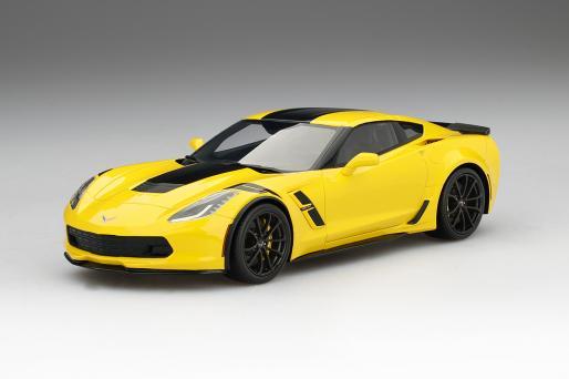 Top Speed 1/18 ミニカー レジン・プロポーションモデル 2017年モデル シボレー コルベット グランドスポーツ コルベットレーシングイエロー 2017 Chevrolet Corvette Grand Sport Corvette Racing Yellow 1:18 Top Speed トップスピード