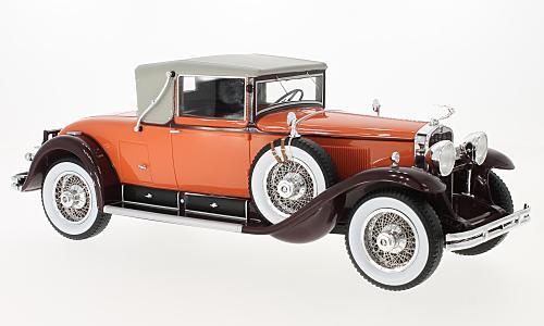 BOS 1/18 1929年モデル キャデラック 341 B コンバーティブル クーペ オレンジCadillac 341 B Convertible Coupe, orange/braun, 1929 1:18 BoS-Models NEW
