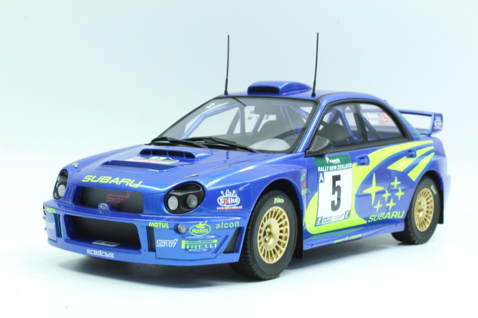 Topmarques 1:18 2001年ラリーニュージーランド 優勝モデル スバル インプレッサ WRC No.51:18 Top Marques Subaru Impreza S7 555 WRT New Zealand winner 2001 R.BURNS - R.REID 1/18 by Topmarques NEW