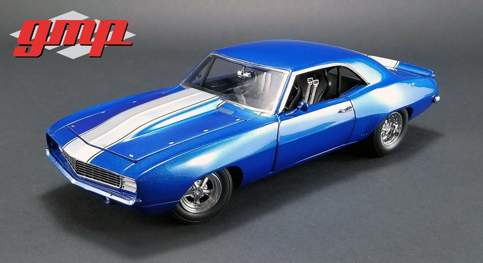 GMP 1:18 1969年モデル シボレー カマロ 1320 Drag Kings ブルー1969 Chevrolet Camaro 1320 Drag Kings 1:18 Scale by GMP
