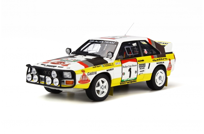 OttOmobile オットモビル 1:18 1984年サファリラリー アウディ Quattro Sport Gr.B E2 1984 Rally Safari Audi Quattro Sport Gr. B E2 1:18 OttOmobile NEW EUR