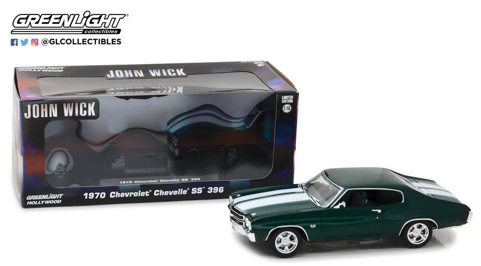 売れ筋商品 サミットエンターテインメント映画「ジョン・ウイック」公式商品 Car Greenlight グリーンライト by 1:18 1970年モデル 1970年モデル シボレー シェヴェル SS 3961/18 1970 Chevrolet Chevelle SS 396 John Wick (2014) 1/18 Diecast Model Car by Greenlight USA, サニーサイドガーデン:b074d110 --- canoncity.azurewebsites.net