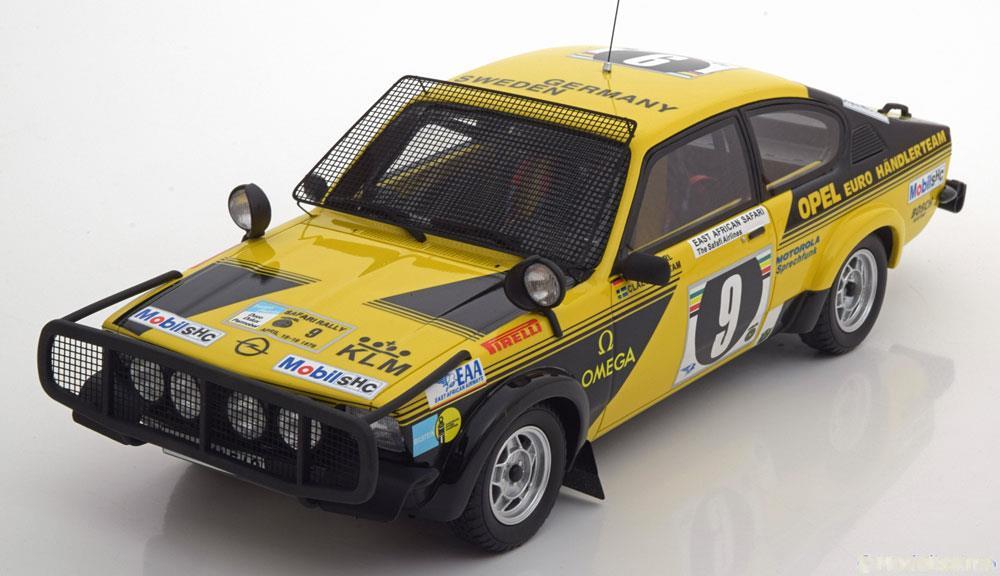 日本未発売 OttOmobile オットモビル 1:18 1976年サファリラリー オペル カデット C GTE No.9Otto Mobile 1:18 Opel Kadett C GTE No.9, Safari Rally 1976 Rohrl/Billsteam 1/18 by OttOmobile