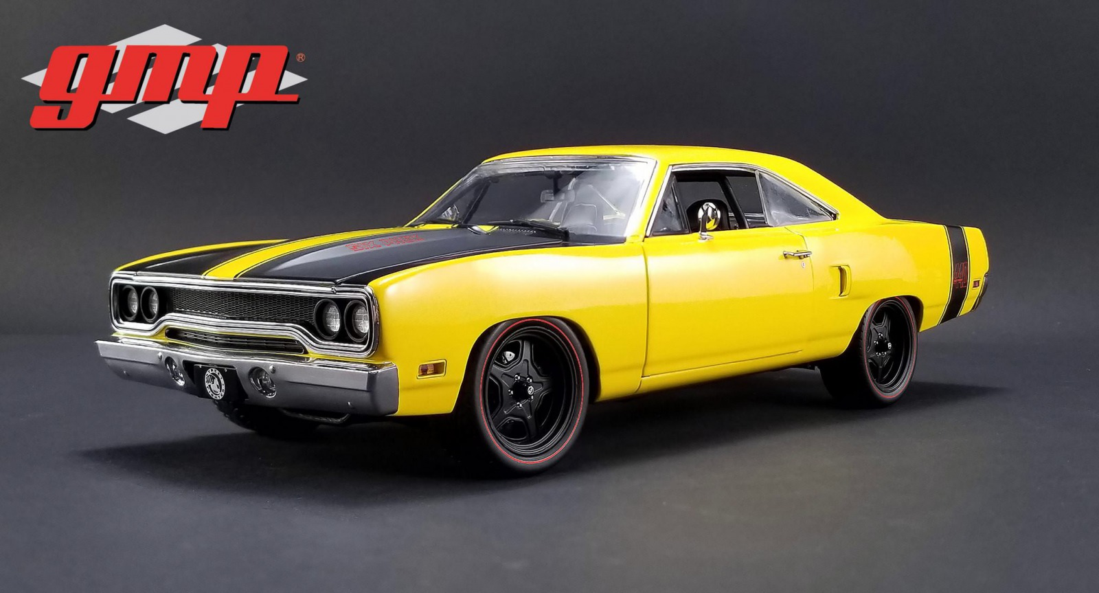 GMP 1:18 1970年モデル プリムス ロードランナー ストリート ファイター 440 6 Pack Attack イエロー1970 Street Fighter Plymouth Road Runner - 440 6 Pack Attack 1/18 by GMP USA