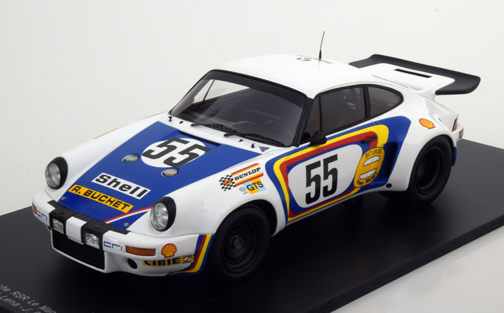 Spark 1:18 1975年ルマン24時間 ポルシェ 911 RSR カレラ No.55PORSCHE - 911 RSR CARRERA TEAM ECURIE ROBERT BUCHET N 55 24h LE MANS 1975 C.BALLOT LENA - J.BIENVENUE 1/18 by Sparkk
