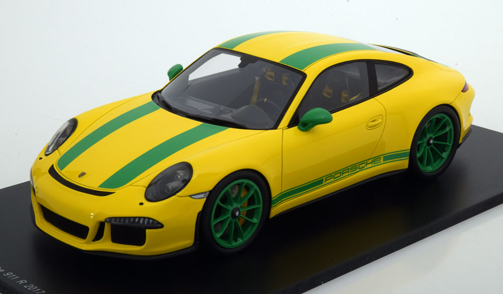 Spark 1:18 2016年モデル ポルシェ 911 991R イエローPORSCHE - 911 991R COUPE 2016 1/18 by Sparkk