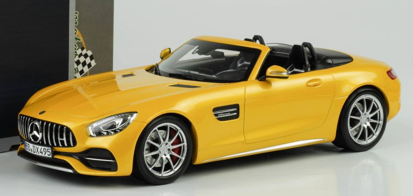 Norev 1:18 2017年モデル メルセデス GTC ロードスター メタリックイエローMERCEDES BENZ - GTC AMG ROADSTER 2017 1/18 by Norev NEW