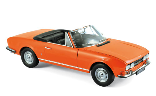 Norev ノレヴ 1:18 1971年モデル プジョー 504 カブリオ Capucine Yellow イエロー1971 Peugeot 504 Cabriolet 1/18 Capucine Yellow by Norev