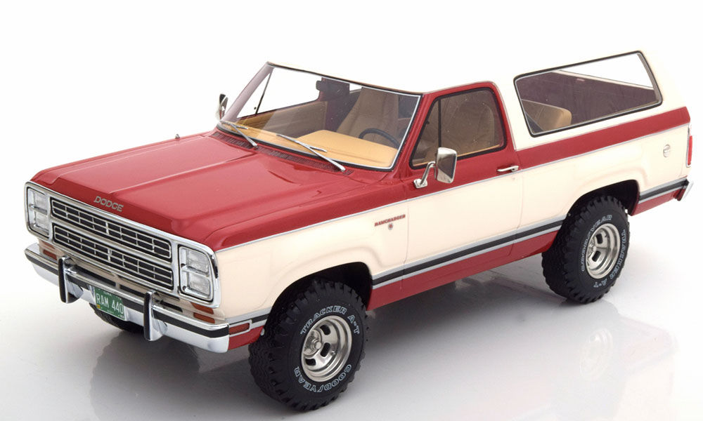 dtw corporation bos models 1 18 1979 model dodge ram charger red white 1979 dodge ramcharger 1. Black Bedroom Furniture Sets. Home Design Ideas