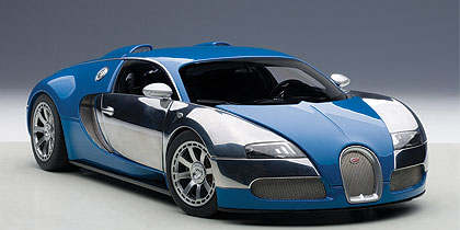AUTOart 1/18 2009年モデル ブガッティ ヴェイロン L'エディション サントネール フレンチブルー 2009 Bugatti Veyron L'Edition Centenaire 1/18 by AUTOart オートアート