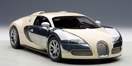 AUTOart 1/18 2009年モデル ブガッティ ヴェイロン L'エディション サントネール ホワイト 2009 Bugatti Veyron L'Edition Centenaire 1/18 by AUTOart