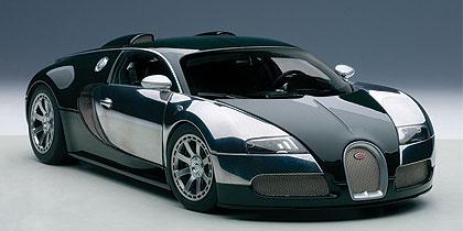 AUTOart 1/18 2009年モデル ブガッティ ヴェイロン L'エディション サントネール レーシンググリーン 2009 Bugatti Veyron L'Edition Centenaire 1/18 by AUTOart オートアート