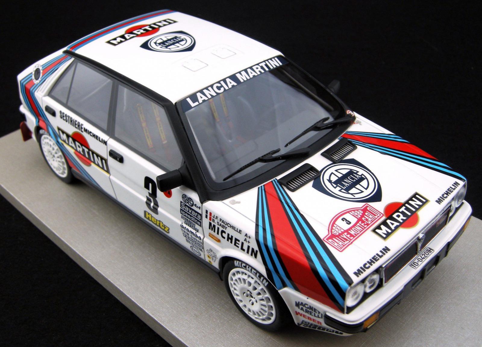Topmarques 1:18 1988年ラリーモンテカルロ優勝モデル ランチア デルタ 4WD No.3TOPMARQUES LANCIA DELTA 4WD MARTINI N 3 WINNER RALLY MONTECARLO 1988 J.F.FAUCHILLE B.SABY