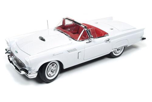 Autoworld 1:18 1957年モデル フォード サンダーバード コンバーティブル 1957 Ford Thunderbird Convertible 1/18 Diecast Model Car by Autoworld