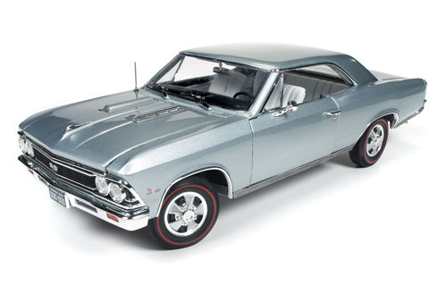 Autoworld 1:18 1966年モデル シボレー シェヴェル SS シルバー1966 Chevrolet Chevelle SS Silver/ Chateau Slate Limited Edition to 1002pc 1/18 Diecast Model Car by Autoworld