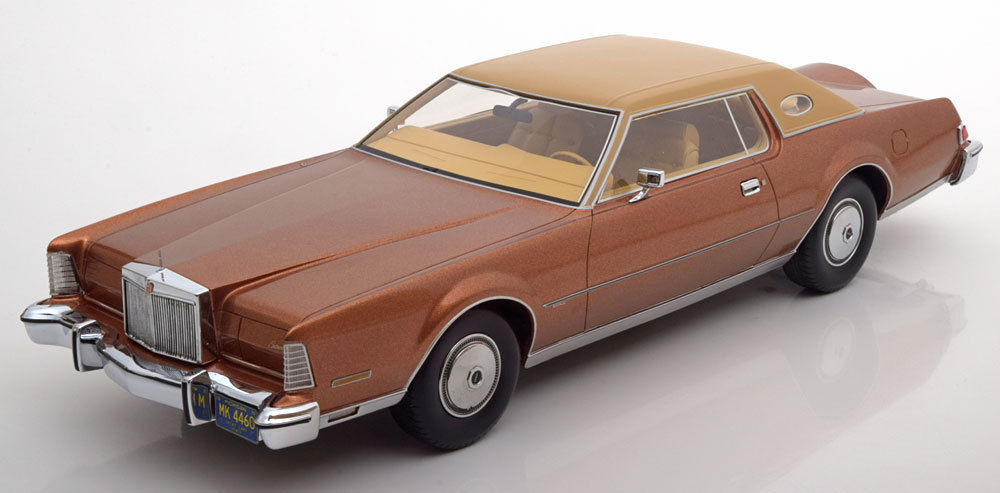 BOS 1:18 1974年モデル リンカーン コンティネンタル MK IV メタリックブラウン1974 Lincoln Continental Mark IV Luxus brown metallic / beige 1/18 by BOS
