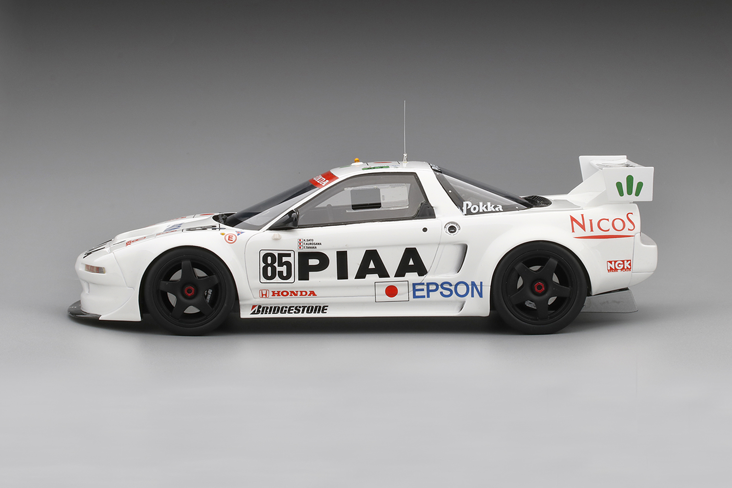 TSM 1:18 1995年勒芒24小时本田NSX GT2 No.85 nakajima·赛车Honda NSX GT2#85 1995 Le Mans 24Hr Qualify 1/18 by TSM