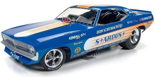 Autoworld 1:18 1972年モデル プリムス クーダ Don Schumacher Don Schumacher's 1972 Plymouth Cuda Stardust (Bobby Rowe) Funny Car Limited Edition to 750pcs 1/18 Model Car by Autoworld NEW