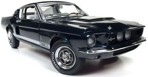 Autoworld オートワールド 1:18 1967年モデル シェルビー マスタング GT500 2+2 ナイトミストブルー・メタリック 1967 Ford Shelby Mustang GT 500 2+2 Nightmist Blue Metallic the 50th Shelby Anniversary Limited Edition to 1002pc 1/18 by Autoworld USA