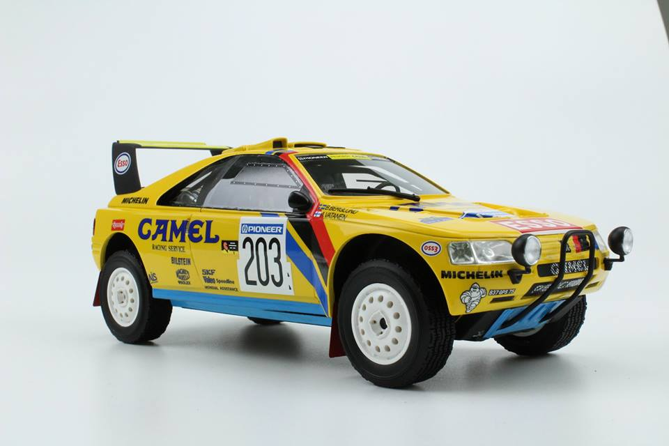 Top Marques トップマルケス 1:18 1990年ラリー・パリダカ 優勝モデル プジョー 405 Turbo 16 No.203PEUGEOT - 405 TURBO 16 (T-16) N 203 WINNER RALLY PARIS DAKAR 1990 A.VATANEN - B.BERGLUND 1/18 by Top Marques NEW